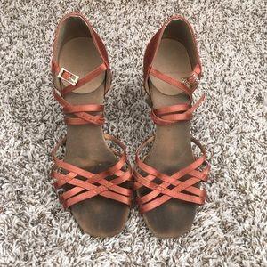 Ray Rose Dark Tan Latin Ballroom Dance Shoes